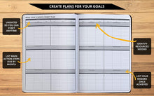 Load image into Gallery viewer, Ignited Life Planner – One Year Undated Goal Achievement System (Softcover)