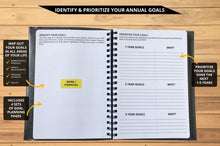 Load image into Gallery viewer, Ignited Life Planner - One Year Undated Goal Achievement System (Spiral)