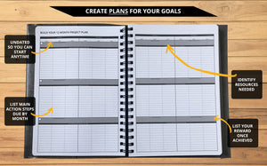 Ignited Life Planner - One Year Undated Goal Achievement System (Spiral)