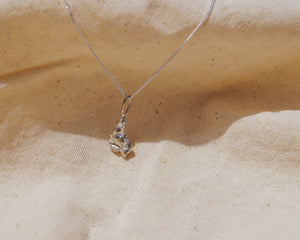 Small Recycled Sterling Silver Necklace