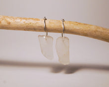 Clear Sea Glass Hoops