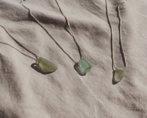 Blue Seaglass Necklace