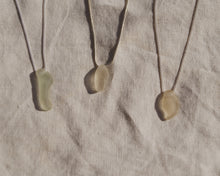 Clear Seaglass Necklace