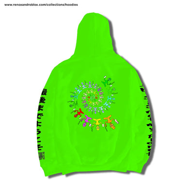 The Divine Proportion - Hoodie Verde Neon