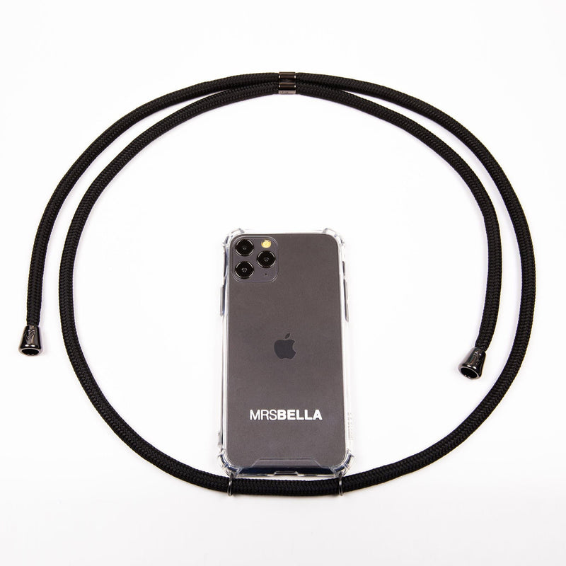 MrsBella Phone Necklace - All Black