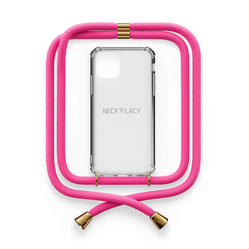 NECKLACY Cotton Candy smartphone handykette rosa pink handyzubehör necklace handyhülle crossbody