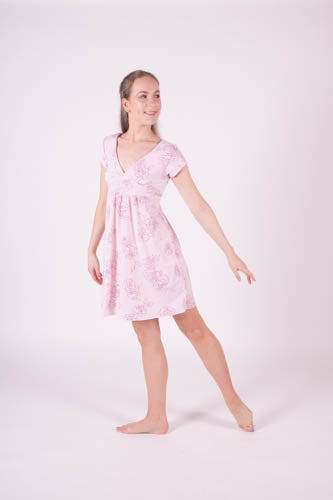 Baby Pink Rose glitter Lyrical Dress