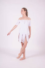Load image into Gallery viewer, White Velvet dress with silver embellishment