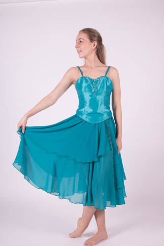 Turqouise Barefoot Bodice and Layered Skirt