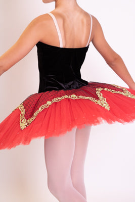 Red and black velvet Tutu
