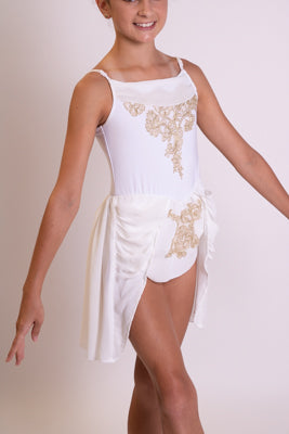 White and Gold Grecian style Dress