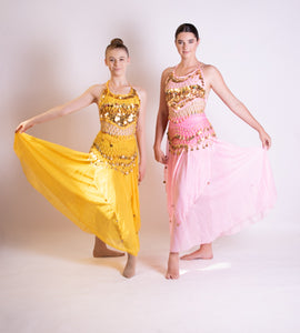 Yellow and Pink 'Song of India' Dresses