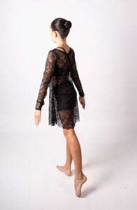 Lace detail over-dress