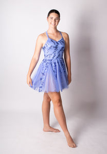 Periwinkle Blue sequin detailed dress