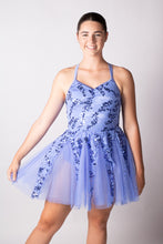 Load image into Gallery viewer, Periwinkle Blue sequin detailed dress