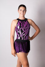 Load image into Gallery viewer, Purple Sequin Detail Dress