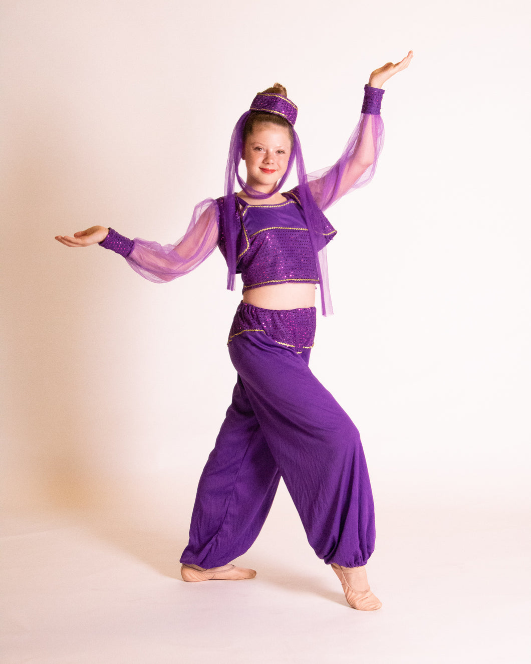 Purple Sequin Genie Costume