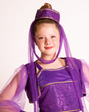 Load image into Gallery viewer, Purple Sequin Genie Costume