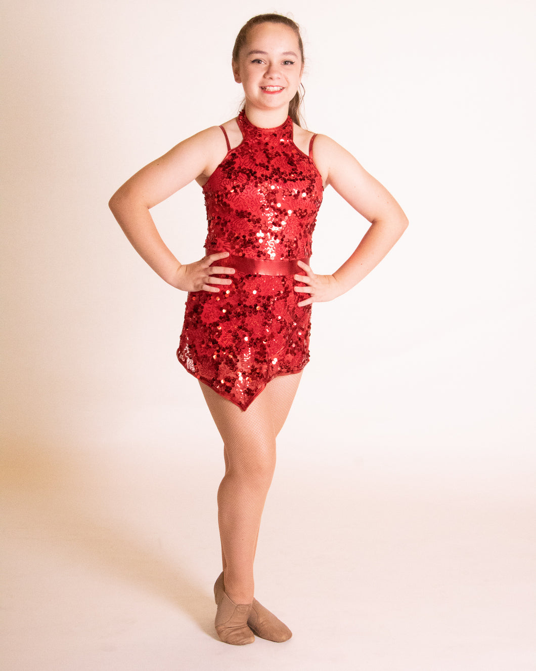 Red Weissman Sequin Dress