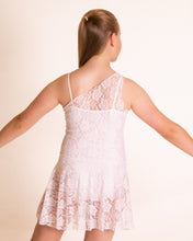 Load image into Gallery viewer, White lace one shoulder Dress