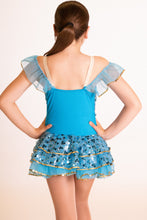 Load image into Gallery viewer, Blue and Gold Sequin Costume