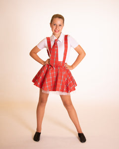 Red Tartan School Girl Dress