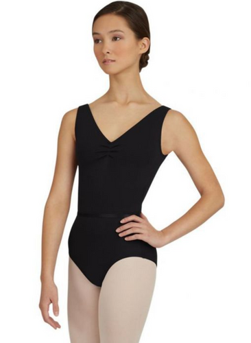 TC0045C - Childs V-Neck Pinch Front Leotard