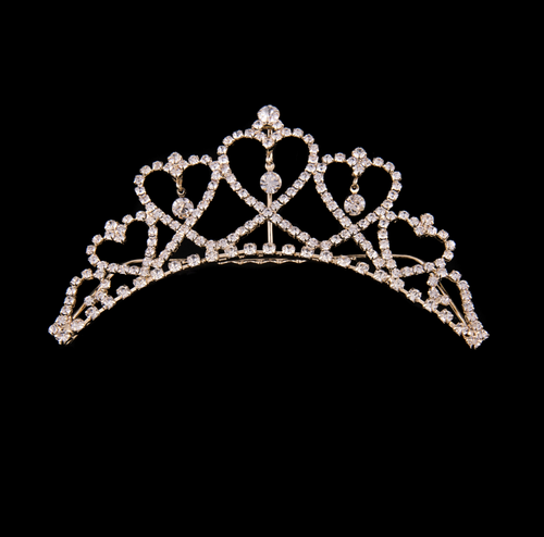 Mad Ally Medium Heart Tiara Gold