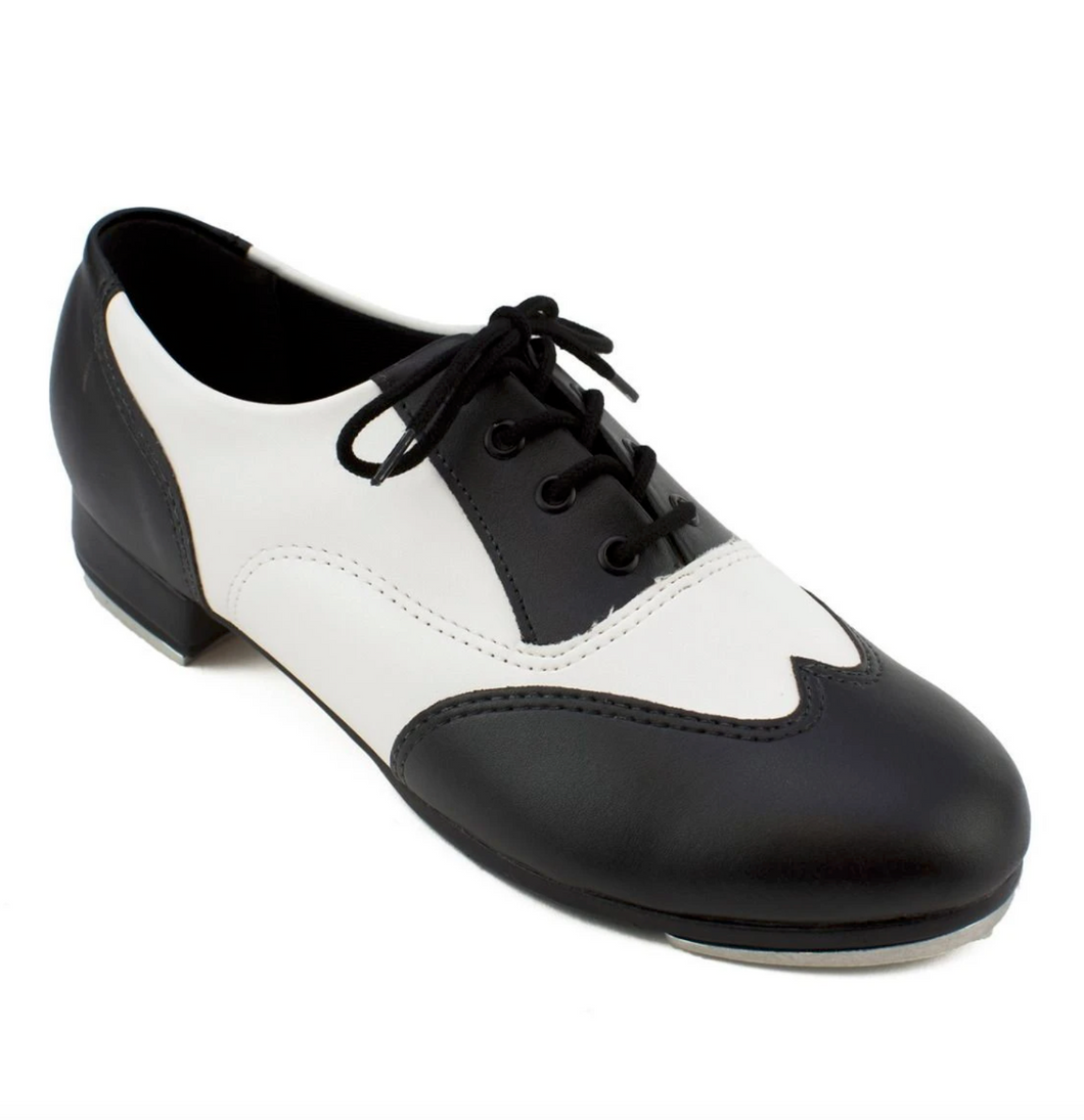 TA20 - Adult Oxford Tap Shoe - Black and White