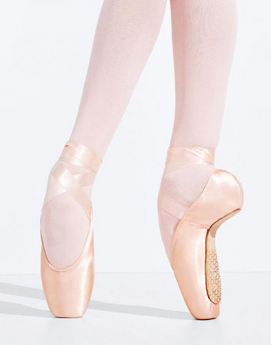 126B Tiffany Pointe Shoe with #3 Shank and Tapered Toe Box