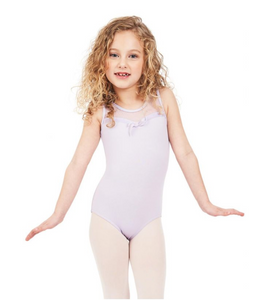 Sweet Kisses Mesh Yoke Tank Leotard - Girls