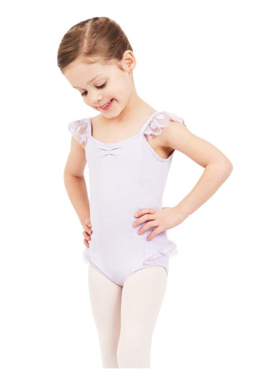 Sweet Kisses Flutter Sleeve Camisole Leotard - Girls