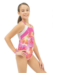 Gymnastics Camsiole Leotard Blue