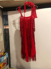 Load image into Gallery viewer, Red flapper ballroom dress