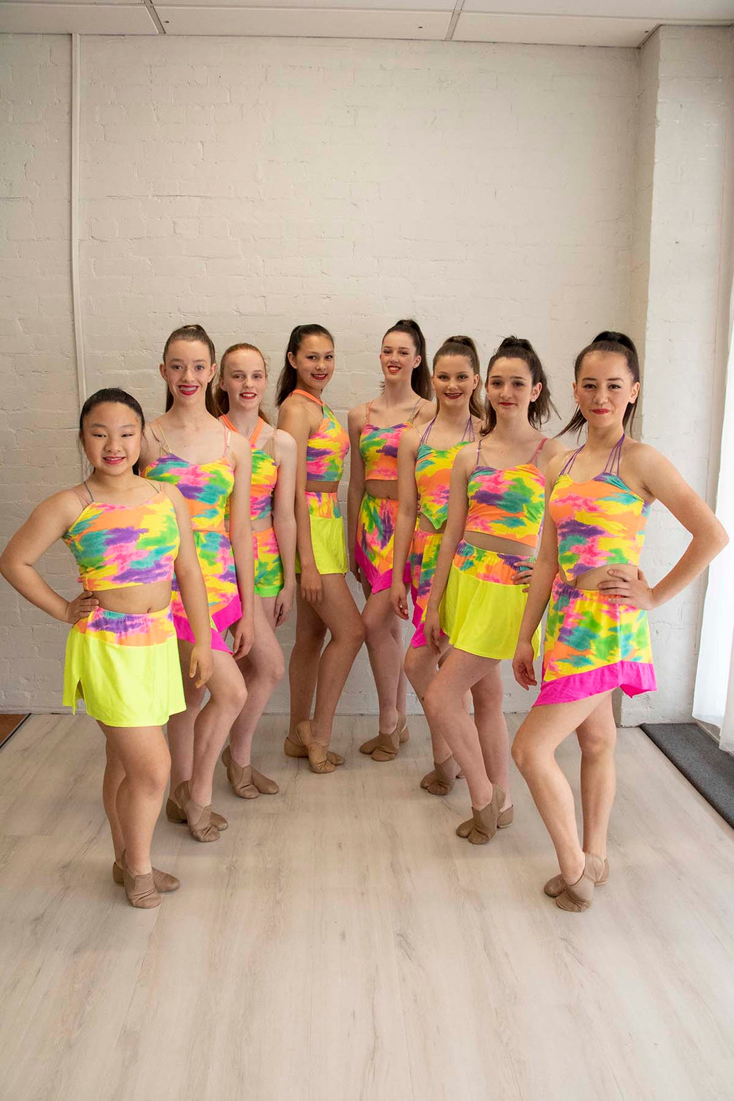 Bright, Fluoro Jazz Costume Set