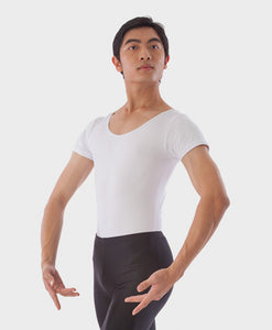 SHORT-SLEEVE LEOTARD - WHITE