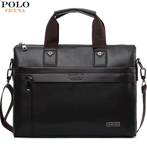 VICUNA POLO Business Men Leather Briefcase