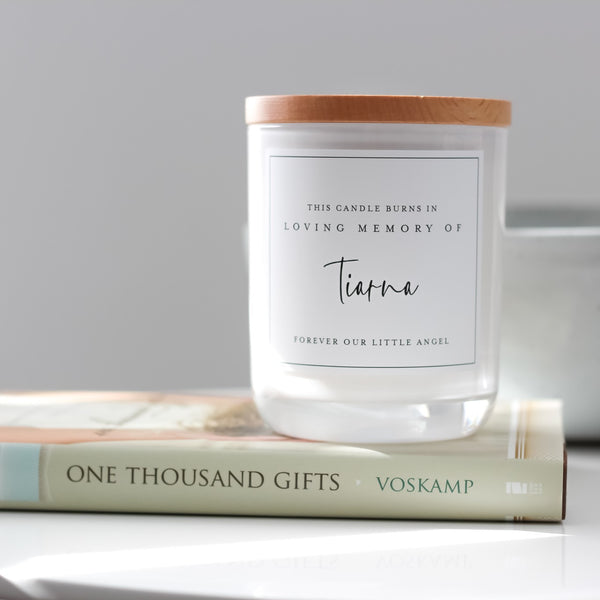 "Personalised ""In Loving Memory"" (Adult) - Soy Wax Candle"