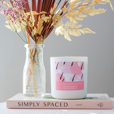 Pink Champagne + Passionfruit - Candle