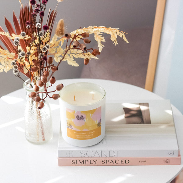 Sweet Peach + Ginger - Candle