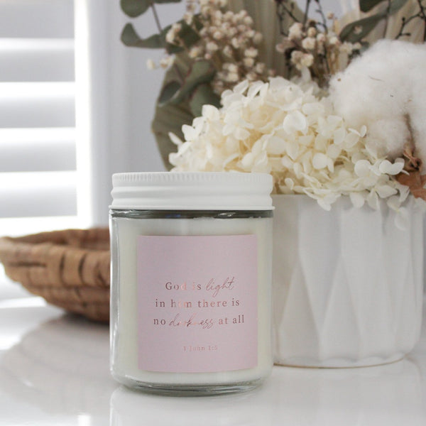 Bible Verse Candle - 250ml Jar