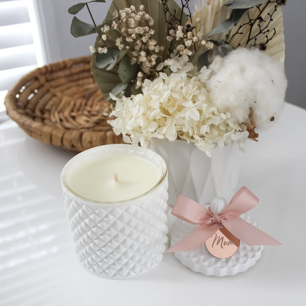 Mother - White Geo Candle