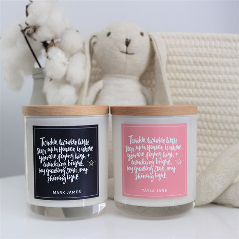 "Personalised ""In Loving Memory"" (Child) - Soy Wax Candle"