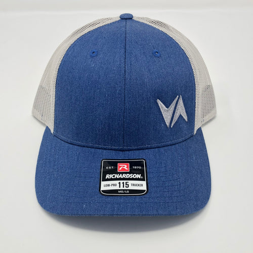 VirtuALL - Richardson Low Pro Trucker Hat - Heather Royal/Silver
