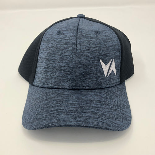 VirtuALL - Shadow Tech Marled Mesh-Back Cap - Navy/Black