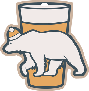 Polar Bear Pint Holiday Ornament/Magnet