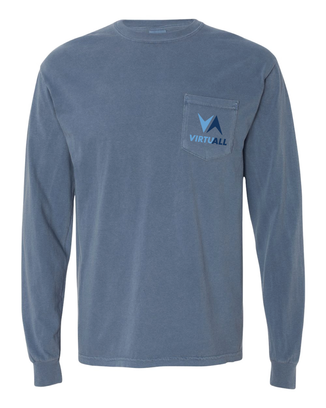 VirtuALL Long Sleeve Pocket T-Shirt - Blue