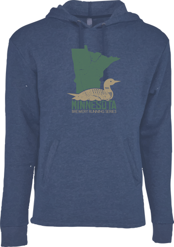 MN Loon - Minnesota Brewery Running Series - Hoodie - Classic Navy Heather