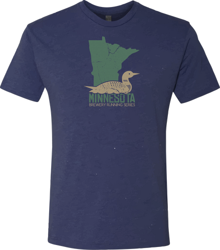 MN Loon - Minnesota Brewery Running Series - Tshirt - Heather Navy