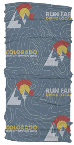 Topo Map Colorado - Running Buff (Neck Gaiter)